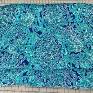 52x58 Lilly Pulitzer tortuga time fabric polyester